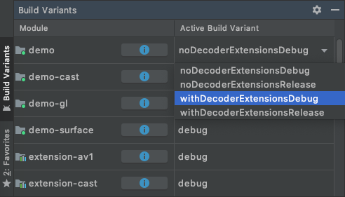 Demo application - ExoPlayer