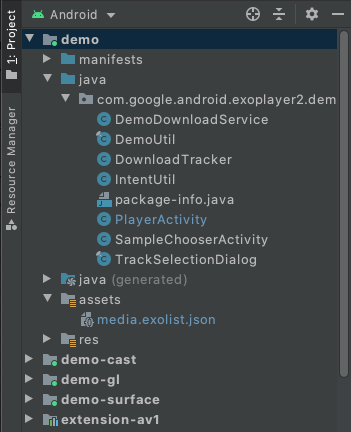 Figure 1. The project in Android Studio